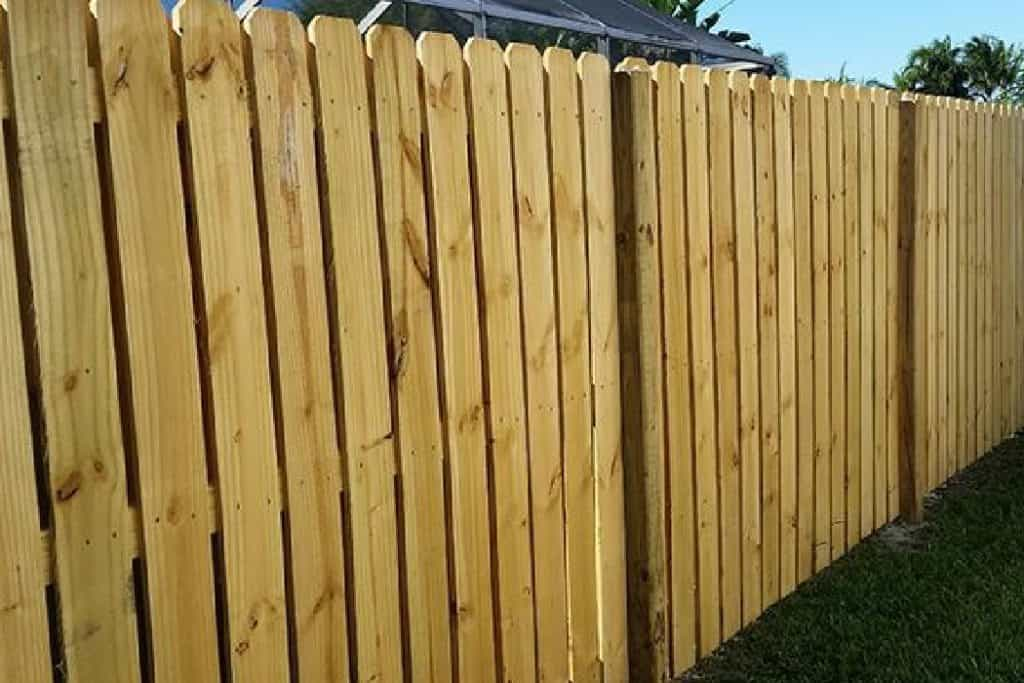 modern wooden fence